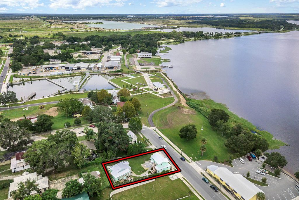aerial view of clermont cabanas and Florida Realty Plus in clermont florida